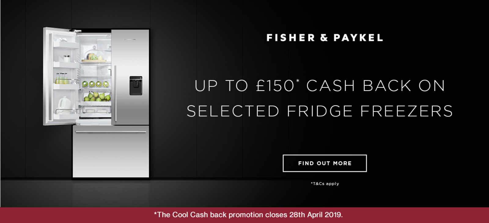 Fisher & Paykel Cool Cash Back Promotion