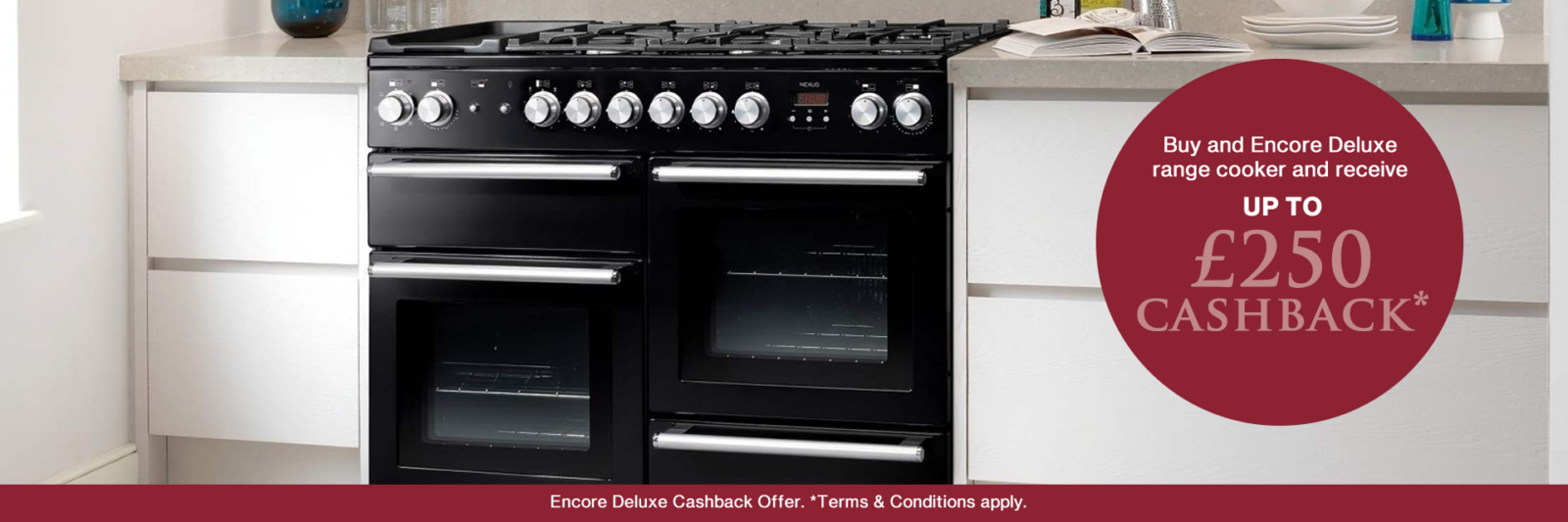 Rangemaster Encore Deluxe Cashback Offer