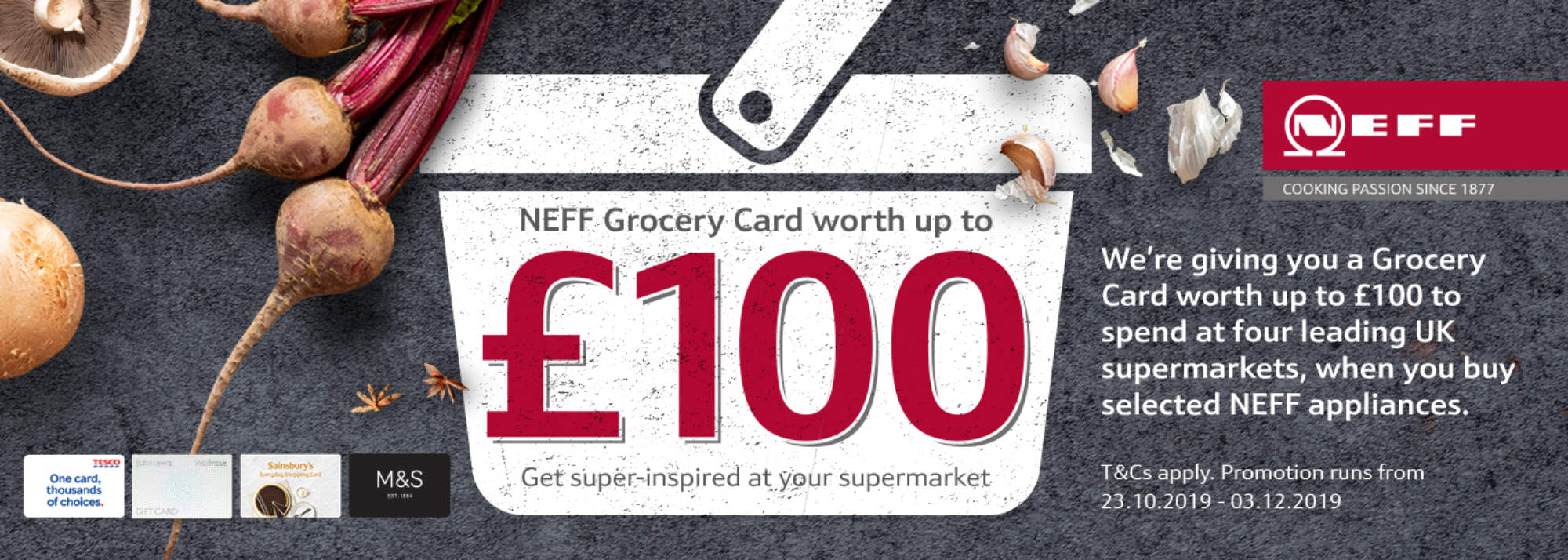 NEFF £100 Grocery Card Offer