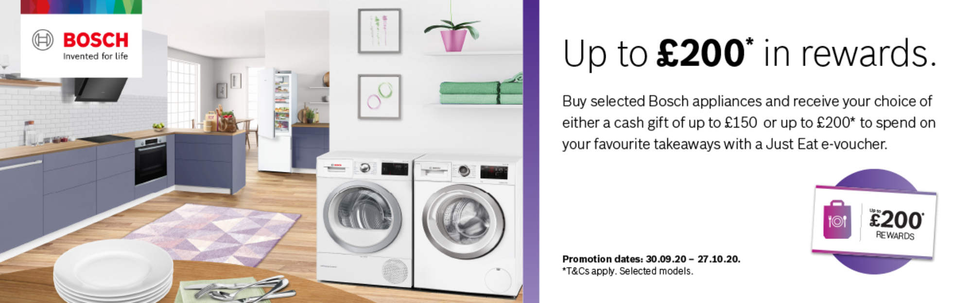 Receive up to £200 in rewards from BOSCH this Autumn
