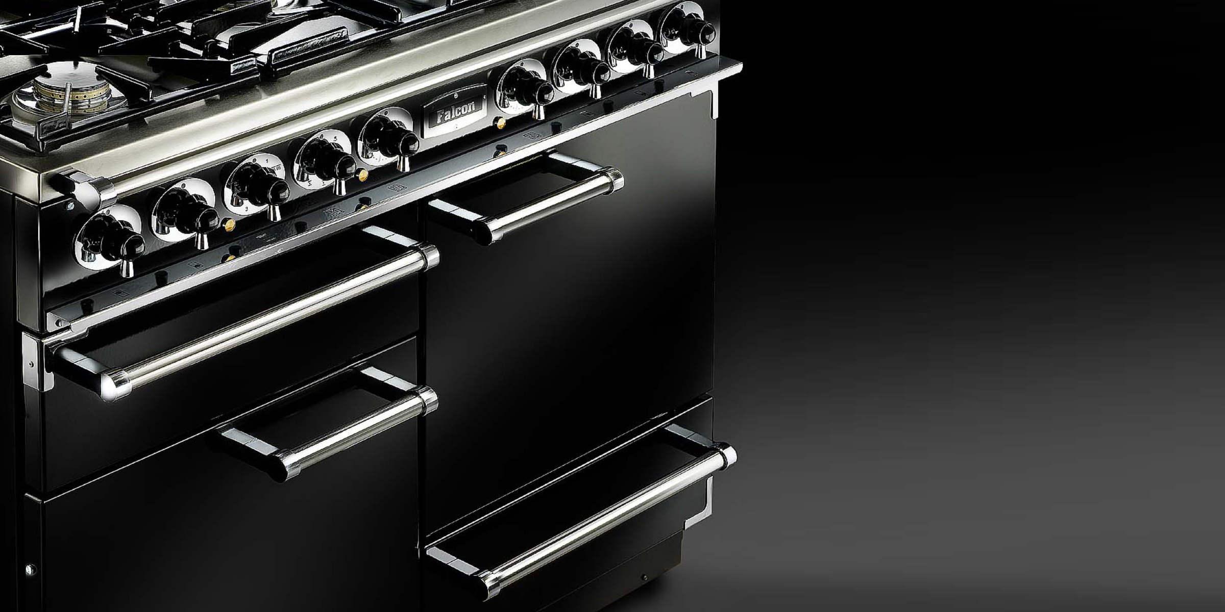 Falcon 1092  Dual  Fuel  Black  Chrome  Trim Feature  Side View12
